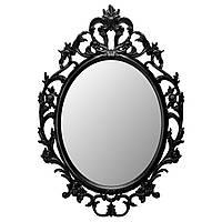 UNG DRILL Зеркало, овал, черный