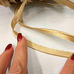 Кант золотистый атласный, фото 2