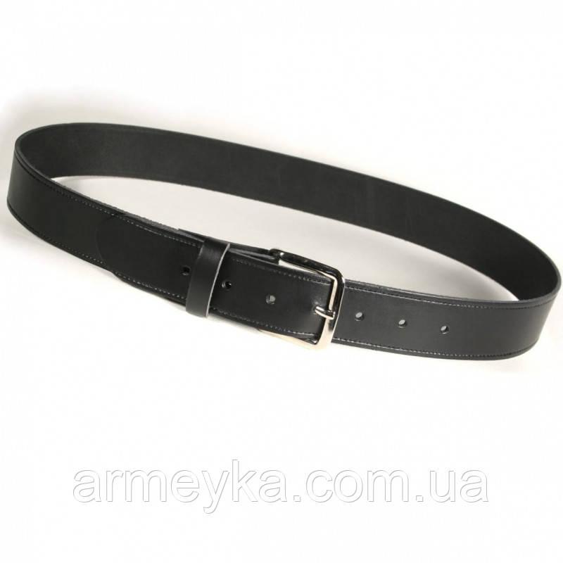 Брючный ремень 1 1/2 inch Leather belt (3,8 сm.), кожа. НОВЫЙ. Полиция Великобритании, оригинал.