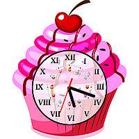 Часы настенные Пирожное с вишенкой