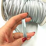 Кант атласный светло-серый стальной розница 1.3 см шир, фото 2