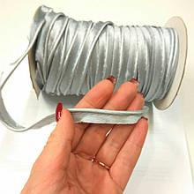 Атласний Кант світло-сірий сталевий роздріб 1.3 см шир