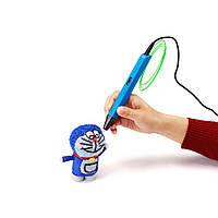 3D-ручка 4-го поколения Portable SMARTPEN RP800A  + 15 м пластика в подарок Синий