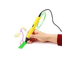 3D-ручка 4-го поколения Portable SMARTPEN RP800A  + 15 м пластика в подарок Желтый