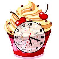 Часы настенные Пирожное с черешней