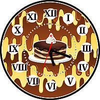 Настенные часы для кухни Тортик