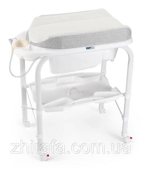 Пеленальный столик с ванночкой   CAM Cambio Soft Серый с зайцем