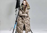 Пальто стеганое объемное с капюшоном 602 (КЭТ)