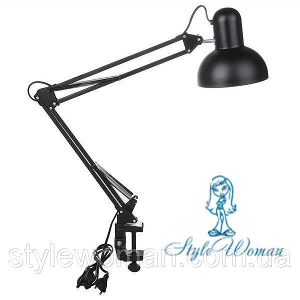 Лампа настольная черная 60вт