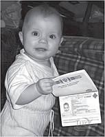 Внесение данных ребенка в готовый загранпаспорт
