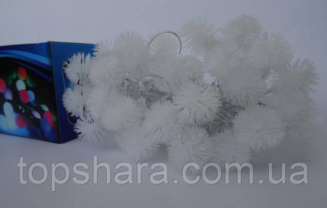 Светодиодная Гирлянда Ёжики Новогодняя на Елку 4.6 м  40 LED RGB