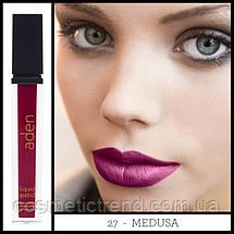 Губная помада жидкая суперустойчивая Aden Liquid Lipstick 27 Medusa 8.4 gr (Италия), фото 2