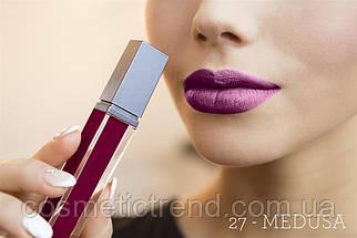 Губная помада жидкая суперустойчивая Aden Liquid Lipstick 27 Medusa 8.4 gr (Италия), фото 3