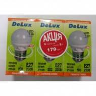 Светодиодная лампа DELUX BL50P 7 Вт 2700K 220В E27 3шт