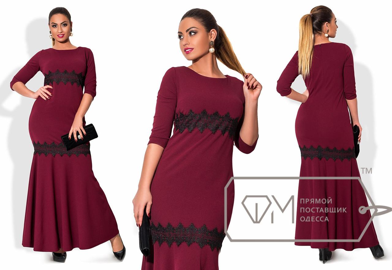 5c66d4eb0623619 Вечернее платье с кружевом, батал - All You Need - прямой поставщик женской  одежды оптом