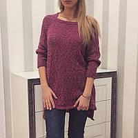 Модная женская вязанная туника