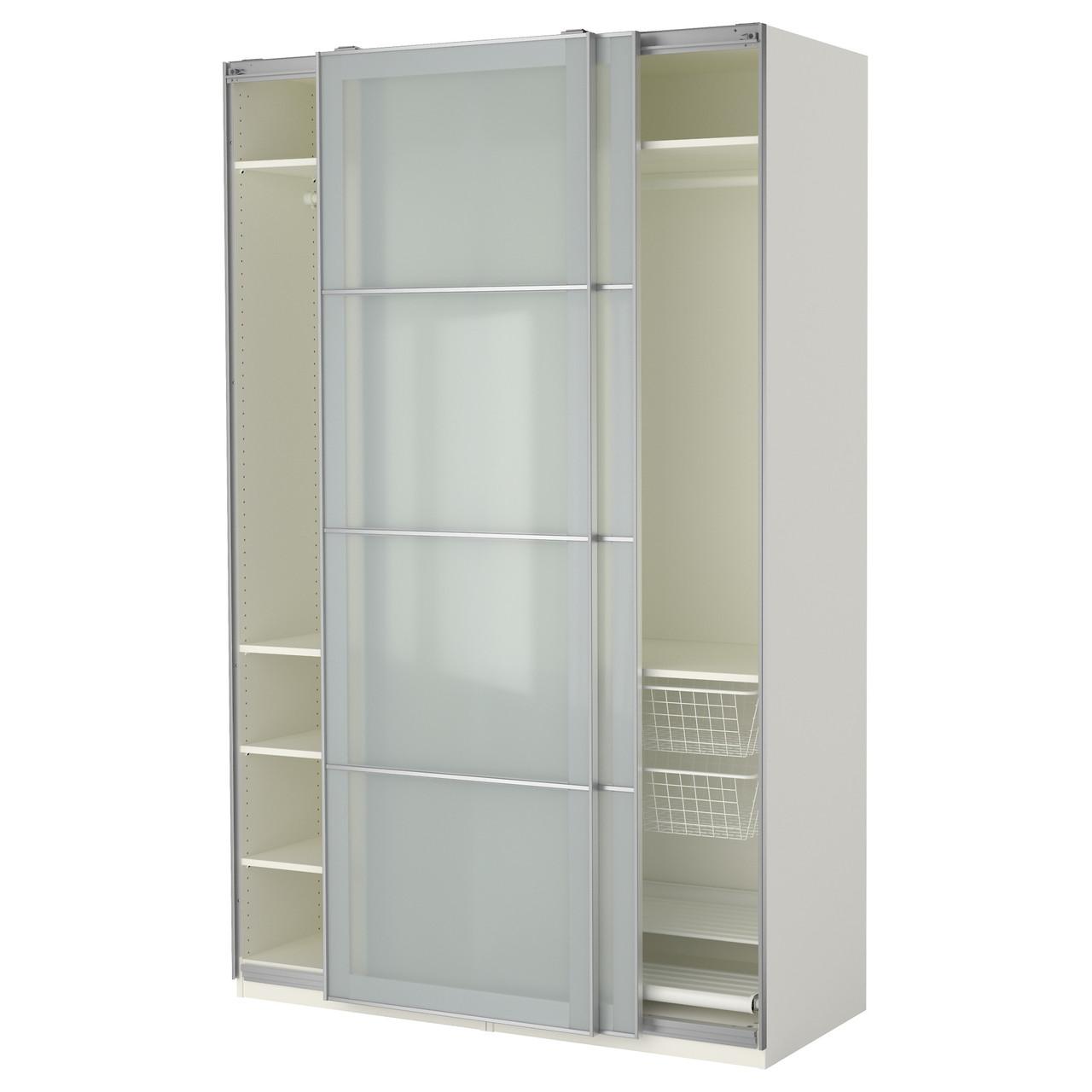 PAX Шкаф, белый, Sekken матовое стекло 390.257.02