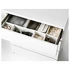 Комод с 4 ящиками IKEA MALM белый 002.145.53, фото 2