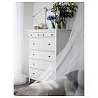 Комод с 6 ящиками IKEA HEMNES белая морилка 602.392.73, фото 4