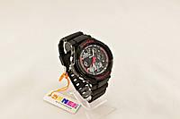 Мужские часы S-Shock Skmei спорт с красным оформлением