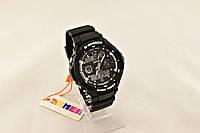 Мужские часы S-Shock Skmei спорт с белым оформлением