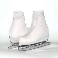 Чехол на ботинок конька (белые)