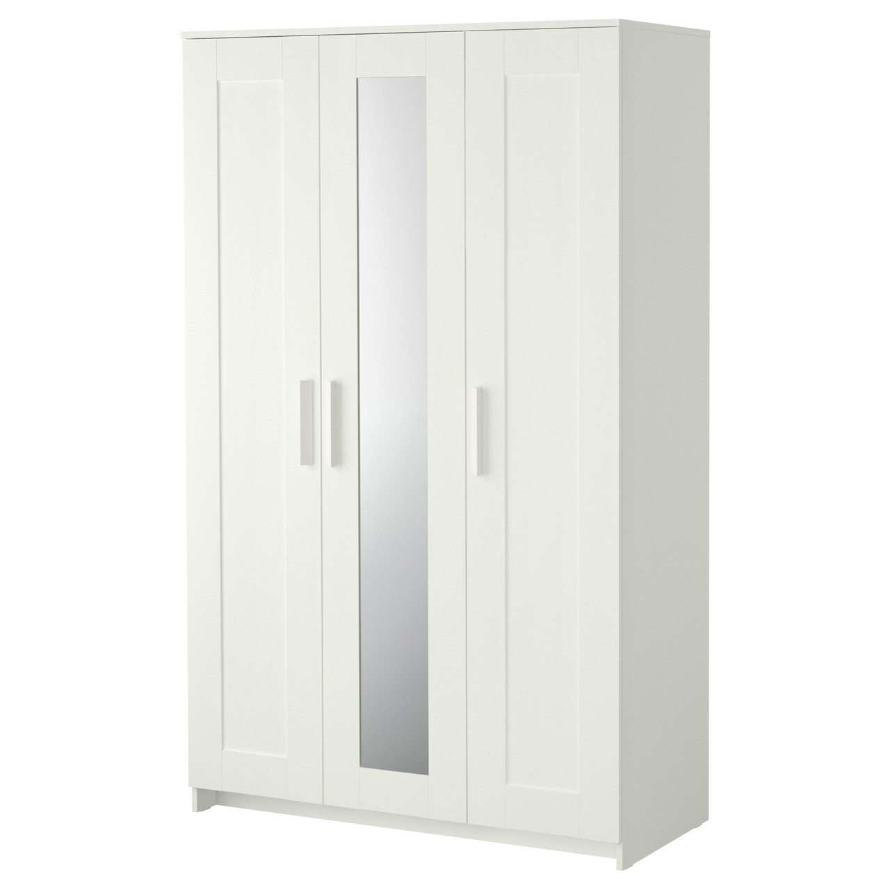 BRIMNES Шкаф-купе/3 двери, белый 702.458.53
