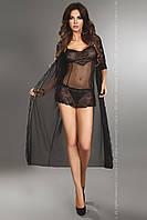 Fuksja dressing gown LC S, черный Livia Corsetti Fashion