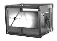 Дроссель-клапаны прямоугольного сечения с сектором ДКСп-01-150х150