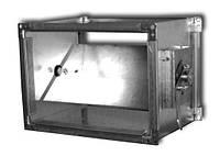 Дроссель-клапаны прямоугольного сечения с сектором ДКСп-21-600х600