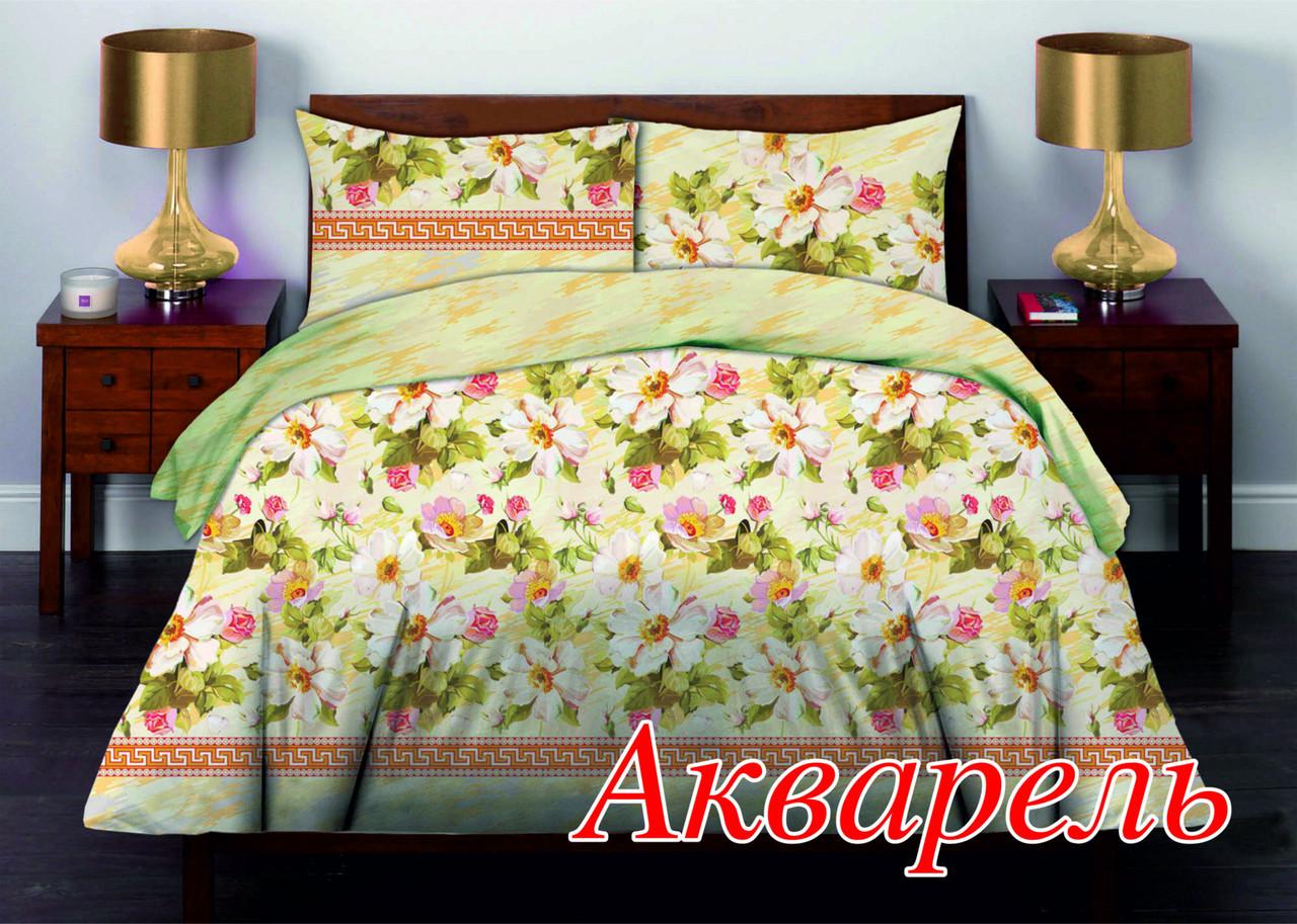 Комплект постельного белья Семейный Home Line 143х215 Бязь АКВАРЕЛЬ нав.50х70