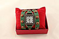"""Часы Geneva в стиле винтаж зеленые """"две обмотки вокруг руки"""""""