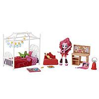 Куклы и пупсы «My Little Pony Equestria Girls» (B8824) мини-кукла Пинки Пай (Pinkie Pie) на пижамной вечеринке, 12 см