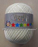 Летняя пряжа Бэби натурал Vizell, молочный