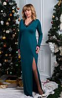 Нарядное длинное женское платье из качественного материала