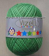 Летняя пряжа Бэби натурал Vizell, № 392, зеленый