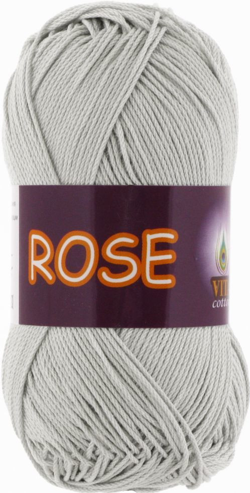 Пряжа Rose Vita Cotton, № 3939, серебро