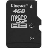 Kingston MicroSDHC 4GB Class 4 (card only)