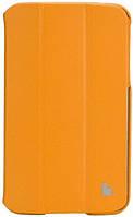Чехол-книжка JISONCASE Premium Leatherette Smart Case for Samsung Galaxy Tab 3 7 Orange (JS-S21-03H80)