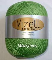 Пряжа для вязания Роксолана Визель, зеленый