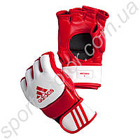 Перчатки ММА Adidas кожа кр/бел