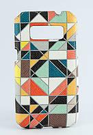 Накладка кожаная Florence Samsung G360 витраж