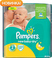Подгузники Pampers New Bab-Dry Mini 2 (3-6 кг) 27 шт.