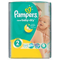 Подгузники Pampers New Baby-Dry Mini 2 (3-6 кг) 17 шт