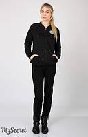 Брюки с начесом для беременных Vogue теплые р. 50 ТМ Юла Мама Черный TR-46.081