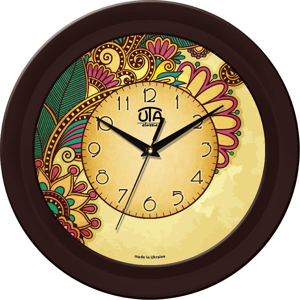 Настенные часы орнамент цветы