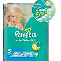 Подгузники Pampers Active Baby-Dry Junior 11-18 кг, 42 шт.