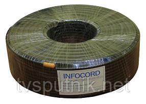 Телевизионный кабель Infocord F660BV Black (100 метров)