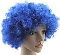 Парик клоуна ( диско) синий