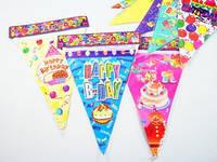Украшение праздника / Флаги / Happy Birthday / Рисунки в ассорт. 28x19 см